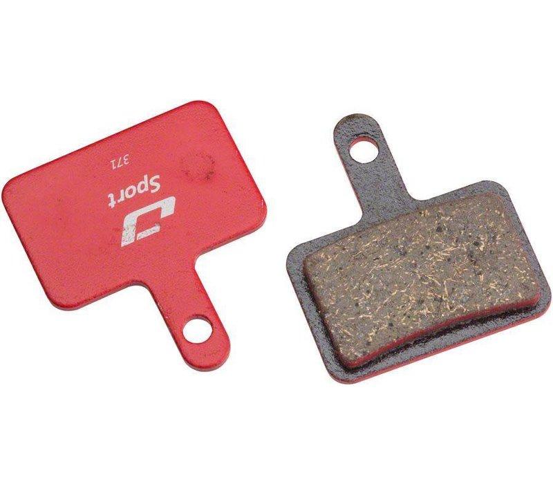 Jagwire Sport Semi-metallic Disc Brake Pads, for Shimano M525, Tektro Auriga