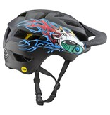 TROY LEE DESIGNS TLD HELMET A1 MIPS YOUTH EYEBALL Black/Silver