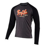 TROY LEE DESIGNS TLD T-SHIRT VINTAGE SPEED SHOP L/S Charcoal/Black L