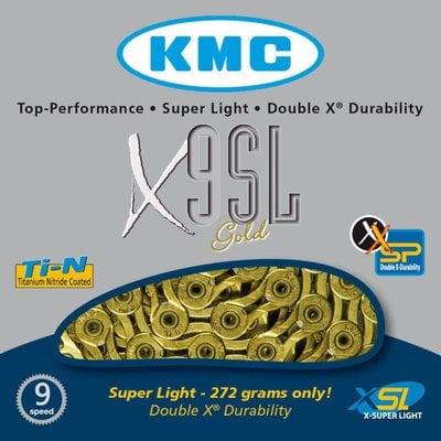 KMC KMC CHAIN 9SPD X9SL GOLD