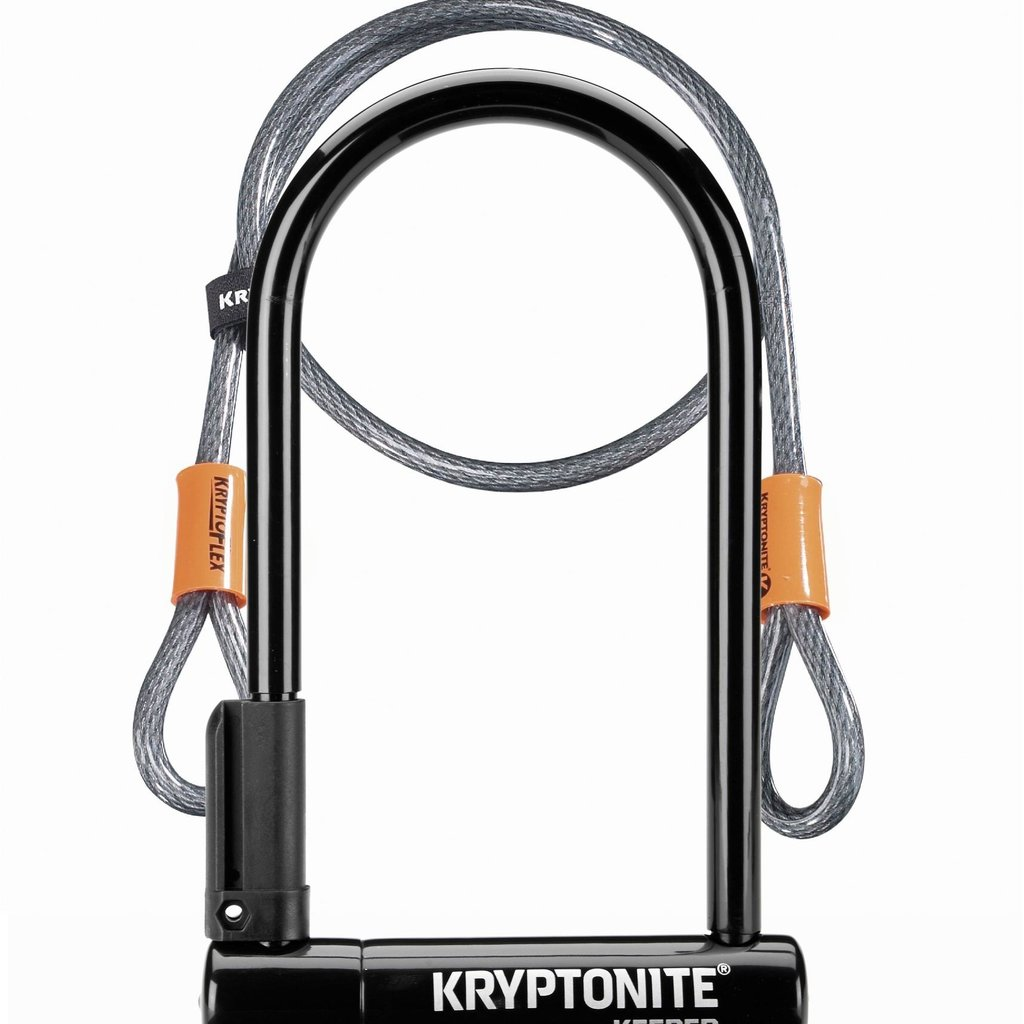 KRYPTONITE KRYPTONITE U-LOCK KEEPER 12 STD W/FLEX CABLE 4'