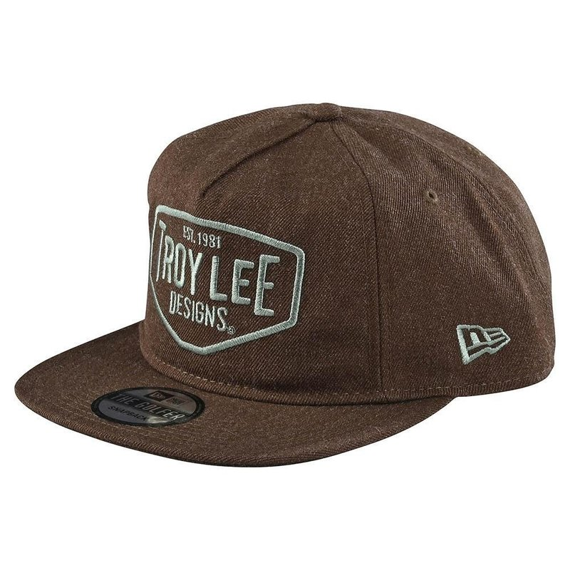 TROY LEE DESIGNS 20S TLD HAT SNAPBACK OSFA MOTOR OIL Brown