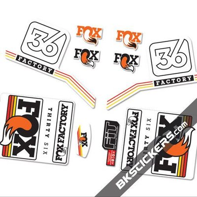FOX RACING SHOX FOX FACTORY DECAL KIT
