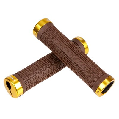 CHROMAG CHROMAG GRIPS SQUAREWAVE Brown/Gold