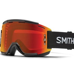 SMITH SMITH GOGGLE SQUAD Black Chromapop Everyday Red Mirror/Clear AF