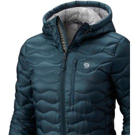 MOUNTAIN HARDWR Women's Nitrous Hooded Down Parka Blue Spruce L