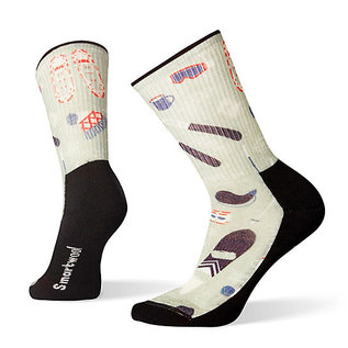 SMARTWOOL Women's Hike Light Hut Trip Print Crew Socks