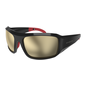 Ryders POWELL POLAR BLACK-RED / BROWN LENS SILVER FM