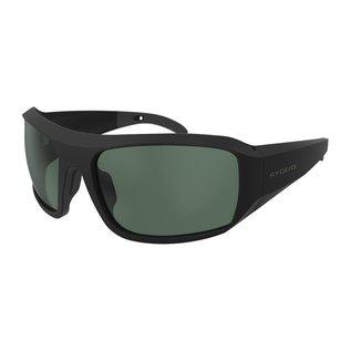 Ryders POWELL POLAR MATTE BLACK / GREEN LENS AR