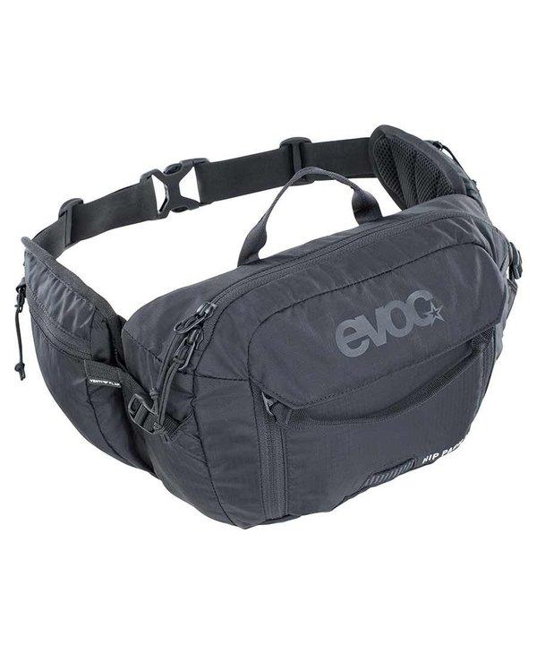 EVOC, Hip Pack 3L + 1.5L Bladder, Hydration Bag, Volume: 3L, Bladder: Included (1.5L), Black