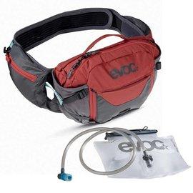 EVOC EVOC, Hip Pack Pro, Hydration Bag, Volume: 3L, Bladder: Included (1.5L), Carbon Grey/Chili Red