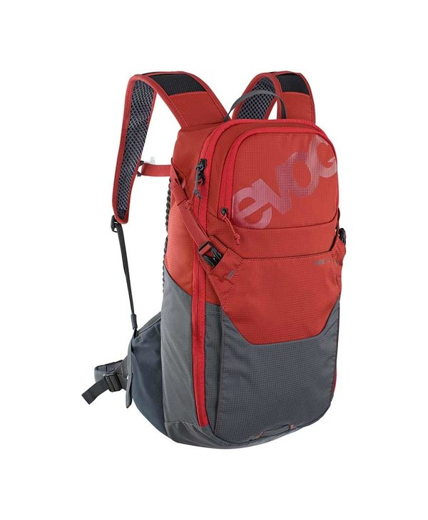 EVOC, Ride 12, Hydration Bag, Volume: 12L, Bladder: Included (2L), Chili Red/Carbon Grey