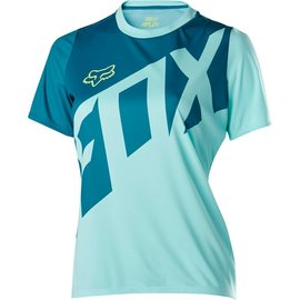 FOX CANADA WOMENS RIPLEY SS JERSEY [ICE BLUE] S