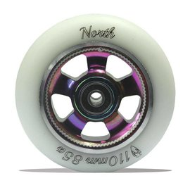 North Scooters NS Wheel Set HQ110mm/85A White PU /Oil Slick