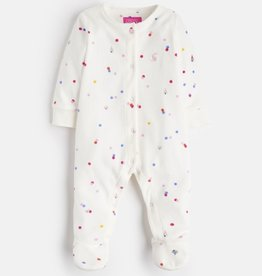 Joules Joules Cosmo Velour Printed Babygrow Footie