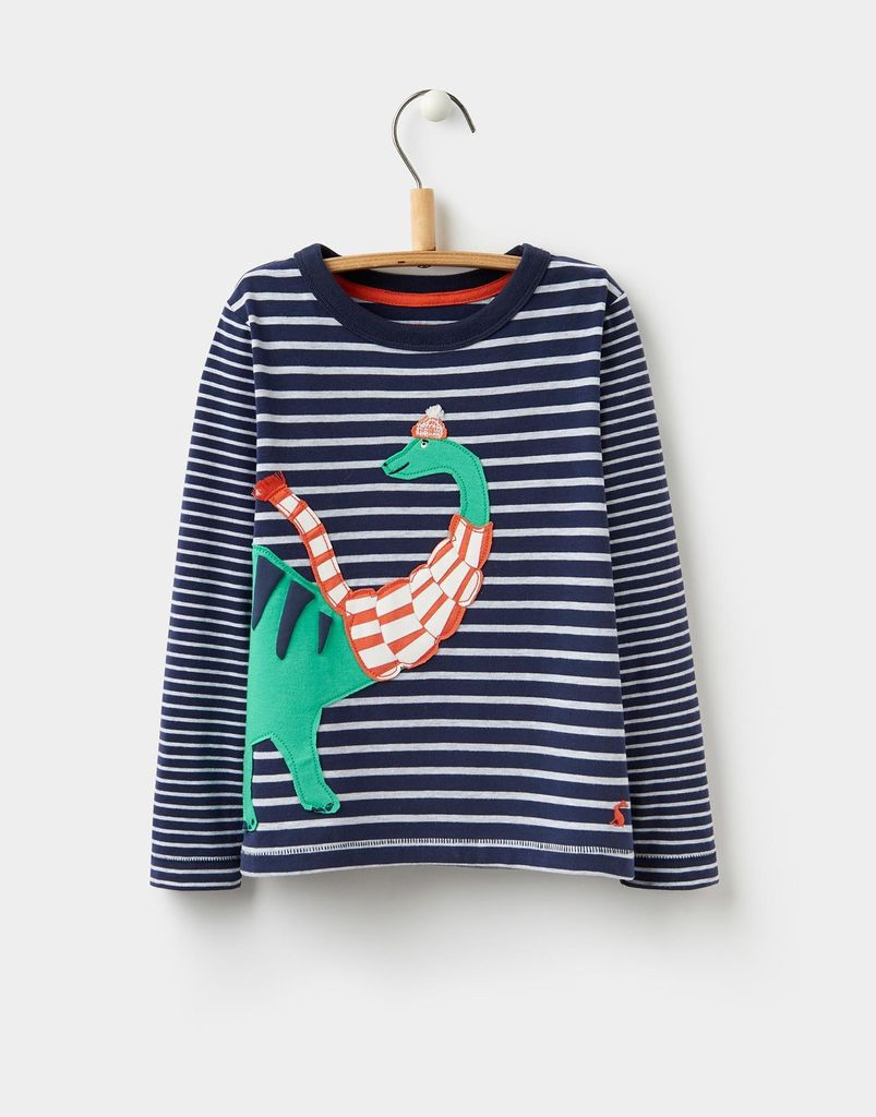 Joules Joules Jack Dino Scarf Applique Top