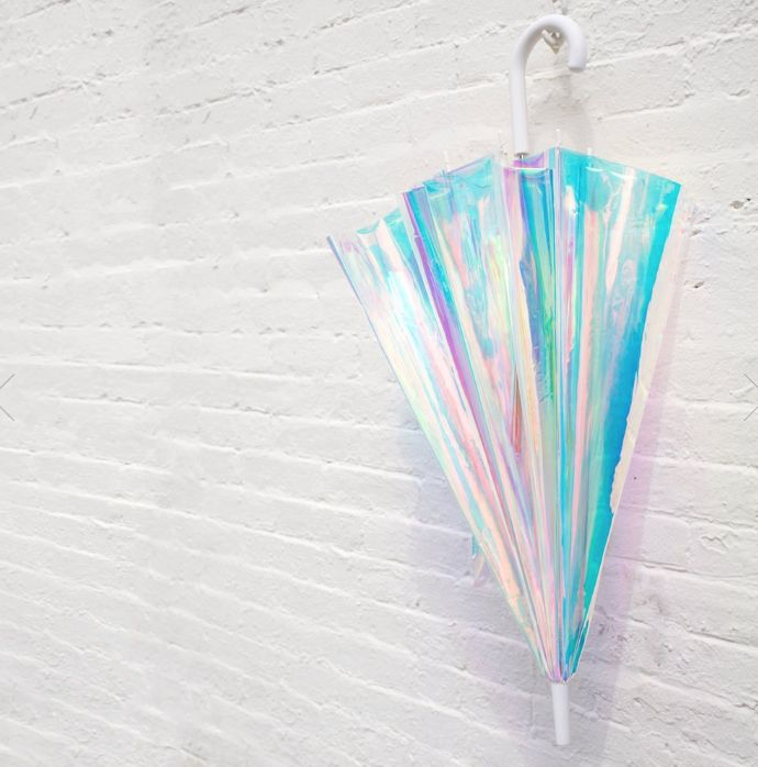 Fctry Adult Holographic Umbrella