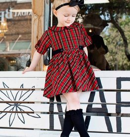 RuffleButts Tristan Plaid Peter Pan Babydoll Dress