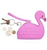Sunny Life Sunny Life Flamingo Silicone Coin Purse