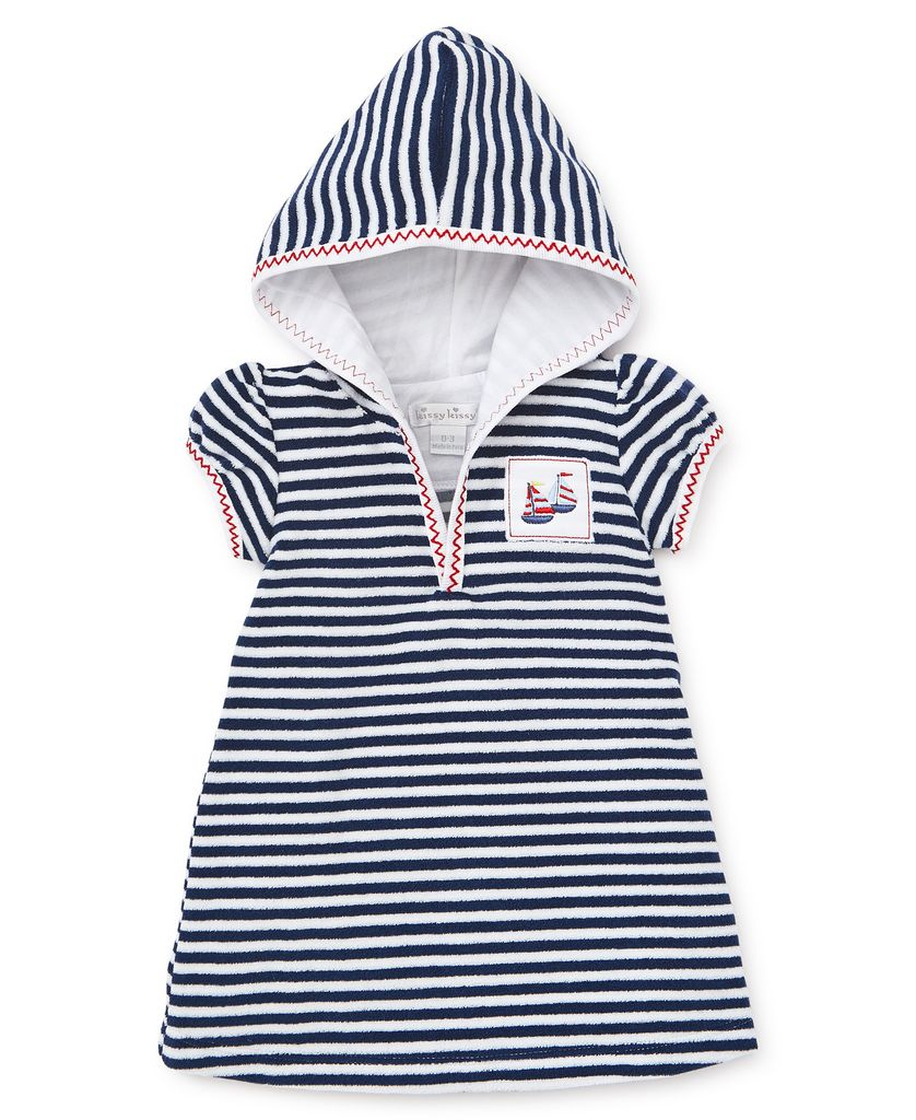 kissy kissy Kissy Kissy Summer Sails Terry Stripe Cover-Up