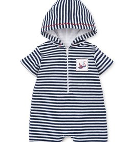 kissy kissy Kissy Kissy Summer Sails Terry Stripe Romper