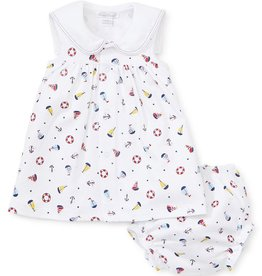 kissy kissy Kissy Kissy Summer Sails Printed Dress with Diaper Cover