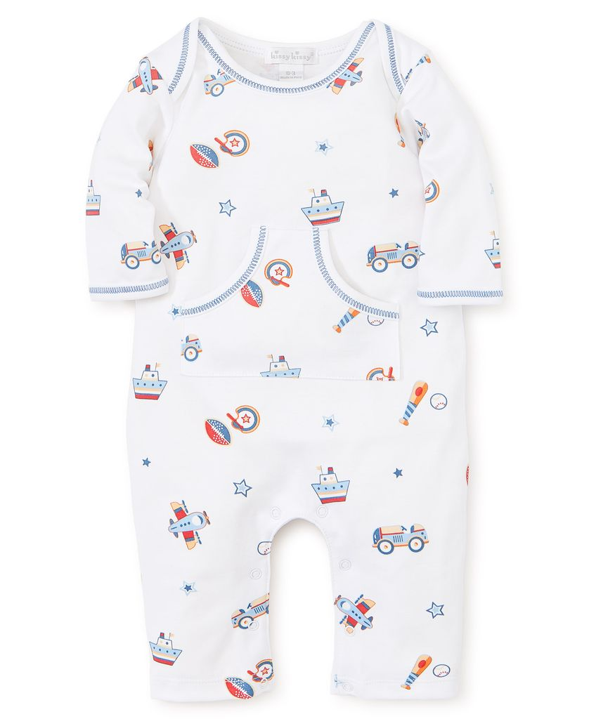 kissy kissy Kissy Kissy It's a Boy Printed Playsuit