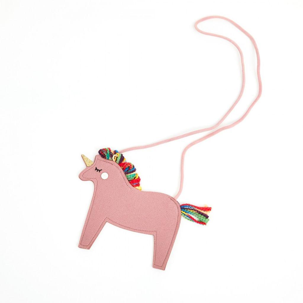Petite Hailey Petite Hailey Pink Unicorn Crossbody Bag