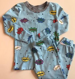 esme Esme Long Sleeve Comic Pajama Set