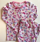esme Esme Long Sleeve Cupcake Pajama Set