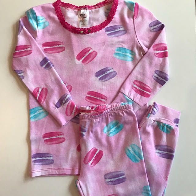 esme Esme Long Sleeve Macaroon Pajama Set