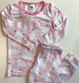 esme Esme Long Sleeve Swan Pajama Set