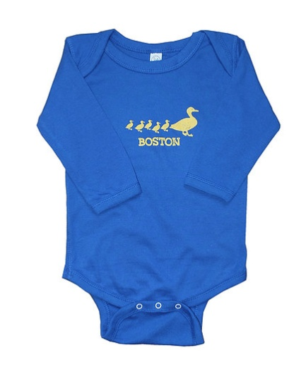 Sidetrack Sidetrack Long Sleeve Boston Ducklings Bodysuit