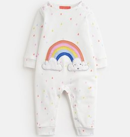 Joules Joules Gracie Rainbow Applique Babygrow