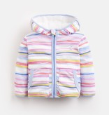 Joules Joules Cosette Rainbow Stripe Reversible Hooded Jacket