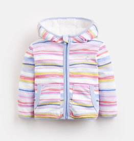 Joules Joules Cosette Rainbow Stripe Reversible Hooded Jacket