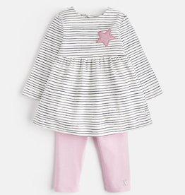 Joules Joules Christina Pencil Stripe Dress and Legging Set