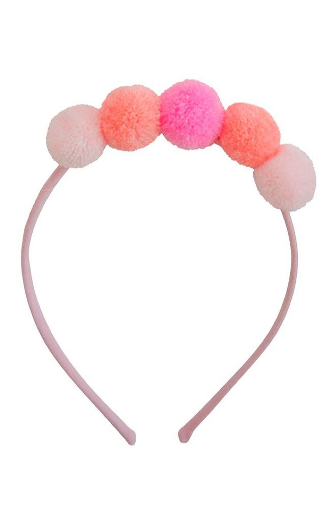 everbloom Everbloom Pink/Peach Pom Pom Headband
