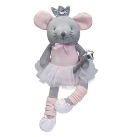 Elegant Baby Knit Princess Mouse Toy 15""