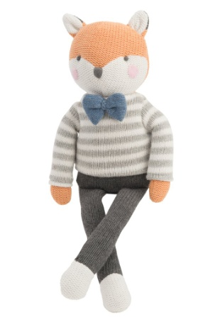 Elegant Baby Knit Fox Toy 15""