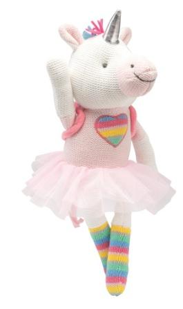 """Elegant Baby Knit Unicorn Toy 15"""""""