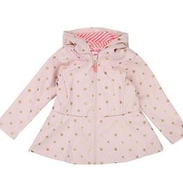 Billieblush Billieblush Lined Raincoat with Gold Dots and Bow on Back