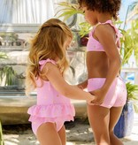 Snapper Rock Snapper Rock Pink and Gold Star Skirt Swimsuit UV50+