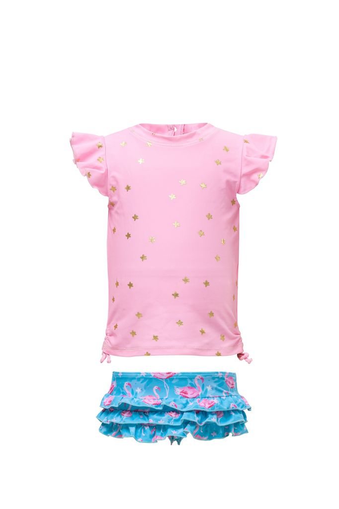 Snapper Rock Snapper Rock Flamingo Star Ruffle Set UV50+