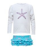 Snapper Rock Snapper Rock Ocean Star Ruffle Set UV50+