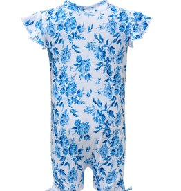 Snapper Rock Snapper Rock Cottage Floral Flutter Sleeve Sunsuit UV50+
