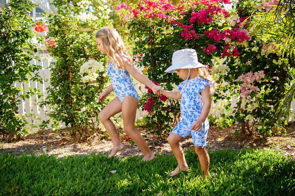 Snapper Rock Snapper Rock Cottage Floral Flutter Sleeve Sunsuit UV50+