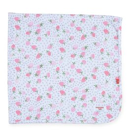 Magnificent Baby Magnificent Baby Strawberries & Cream Swaddle Blanket