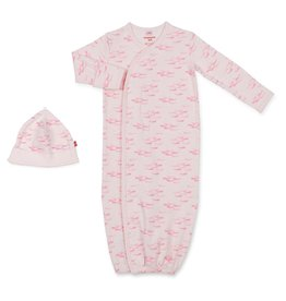Magnificent Baby Magnificent Baby Narwhal Gown and Hat Set *more colors*