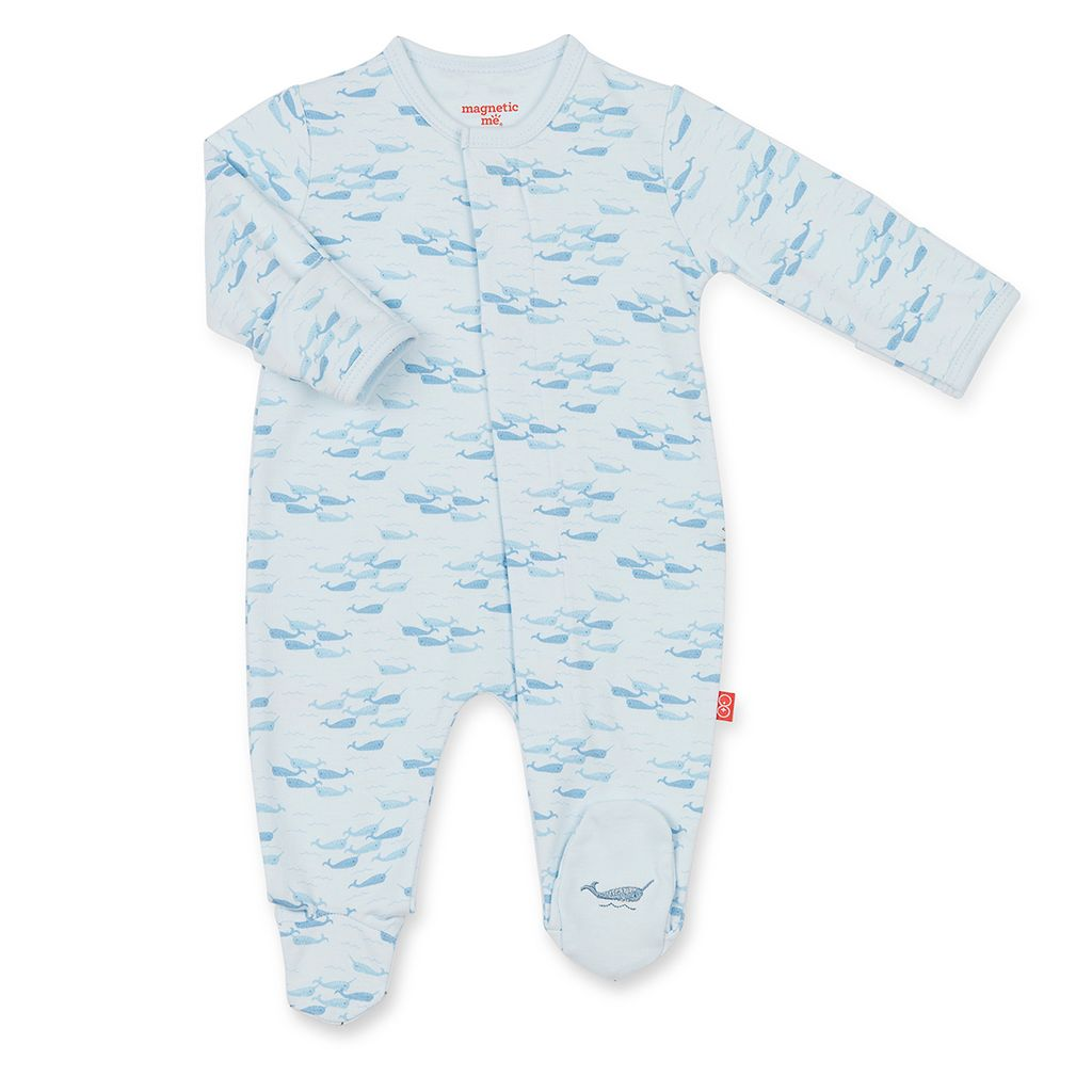 Magnificent Baby Magnificent Baby Narwhal Footie *more colors*